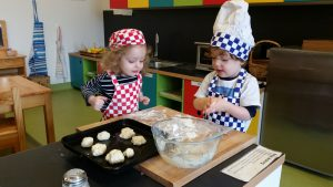 Montessori making bread